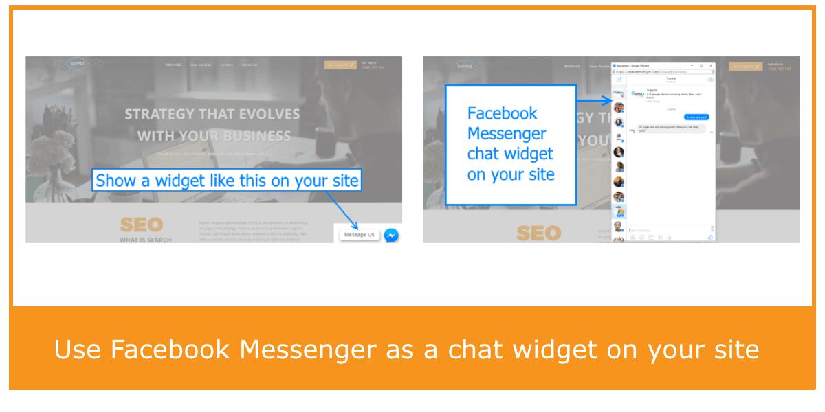 Facebook Messenger Website Chat Widget ~ Supple