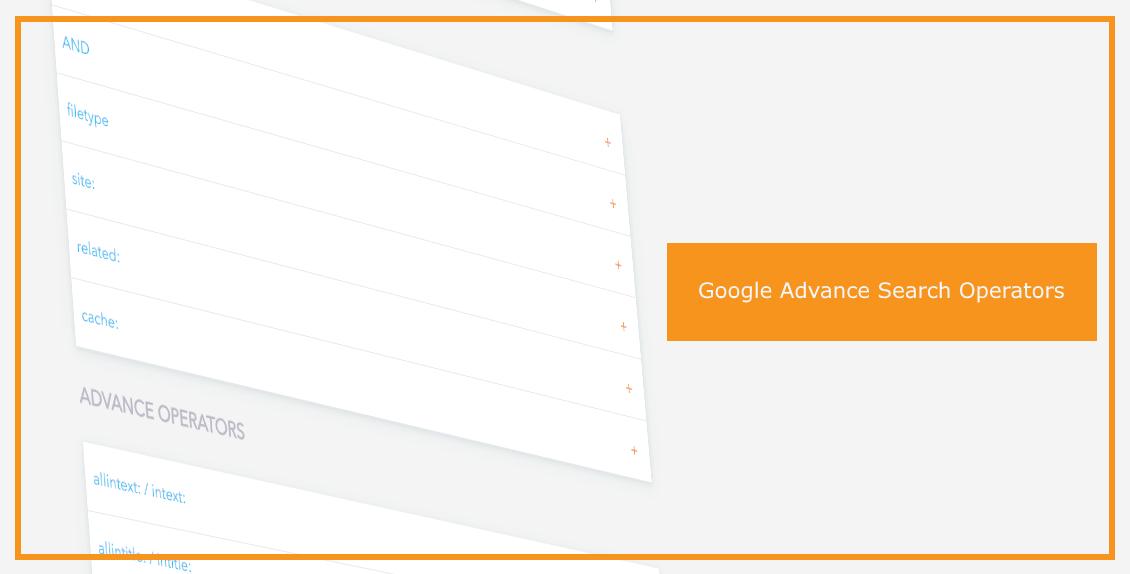 Google Advanced Search Operators Supple