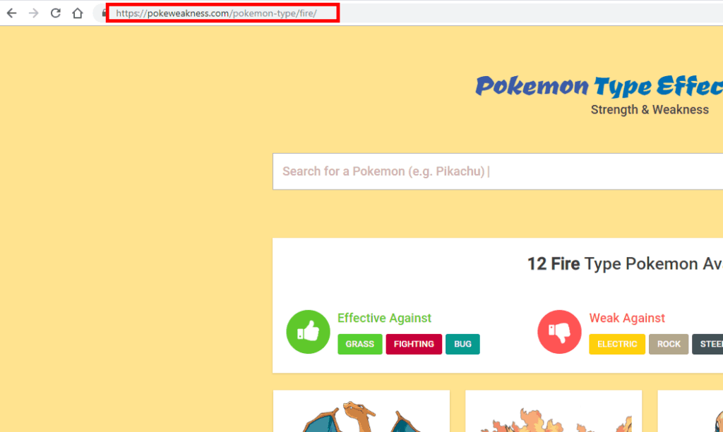 pokemon URL