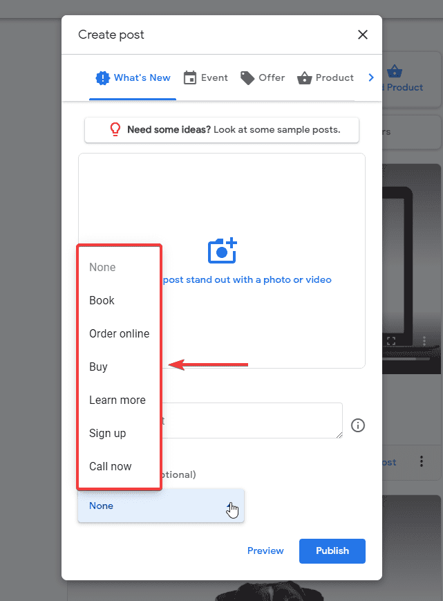 GMB how to create posts